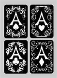 Poker cards Aces set