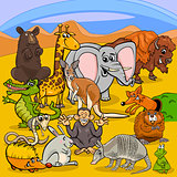 cartoon animal characters group