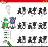 educational shadow game with robots