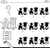 shadow game with robots coloring book