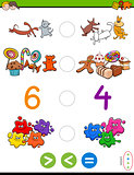 greater less or equal cartoon game
