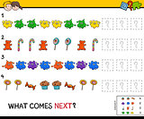 educational finish the pattern game for kids