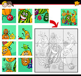jigsaw puzzles with fruit characters