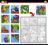 jigsaw puzzles with fruits characters