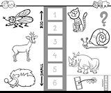 biggest animal game coloring book for kids