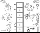 find biggest animal activity color book