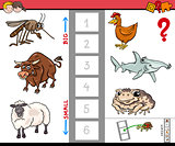 biggest and smallest animal educational cartoon