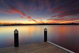 Serene sunset at Kikatinalong jetty Australia