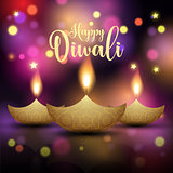 Decorative Diwali lamp background