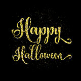 Glitter happy halloween type background