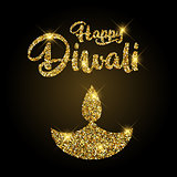 Glittery Diwali background