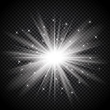 Silver starburst on transparent background