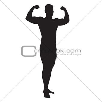 Black silhouette man