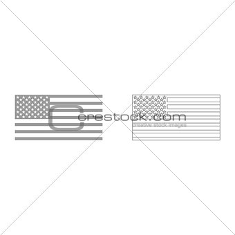 American flag it is icon .