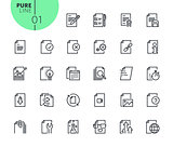 Set of text editing and document formatting  icons