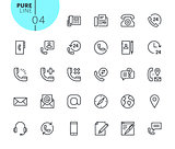Set of contact, support and location icons
