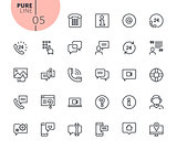 Set of mobile service and communication icons
