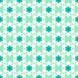Seamless pattern with snowflakes white green blue