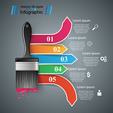 Brush icon. Business infographics.