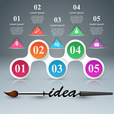 Brush, idea icon. Business infographics.