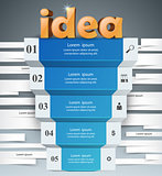 Idea 3d business infographics.
