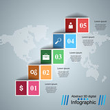 Business, maps Infographics origami style Vector illustration.
