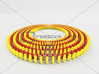 3D Illustration Flag of Catalonia