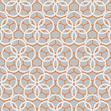 Japanese pattern in blue and orange colors.