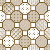 Japanese style tile seamless vector pattern.