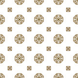 Japan kimono inspired vector seamless pattern in gold line color style.