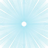 Sunburst background thin blue radial lines vector.
