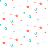 Star shape blue and green seamless kid pattern.