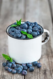 Blueberry in mug