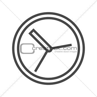 Clock Thin Line Vector Icon.
