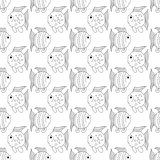 White funny fish seamless pattern