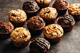 Different homemade muffins.