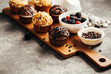 Berry and chocolate muffins
