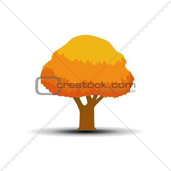 autumn tree vector illustration