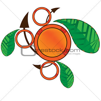 Abstract logo leaf design