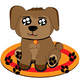 Cute puppy cartoon draw