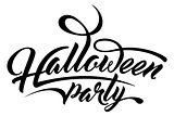 Lettering Halloween Party