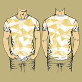 Vector yellow t-shirts templates