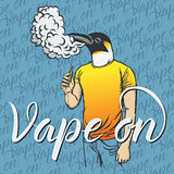 Penguin vaping an electronic cigarette