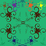 Seamless abstract pattern with with swirls