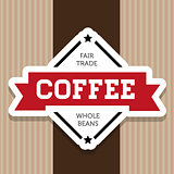 Fair trade Coffee vintage label