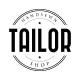 Tailor shop vintage stamp logo