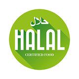Halal food sign sticker
