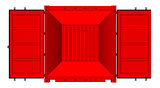 Vector of red cargo container