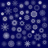 Different Winter Snowflakes