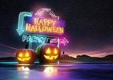 Halloween Party Neon Sign